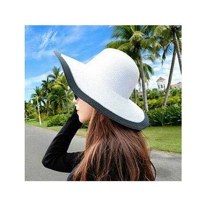 QMCKDH Seaside Sun Visor Hat Weibliche Sommer Sonnenhüte Für Frauen große Krempe Stroh Sonnenhut Folding Beach Girls Großhandel - Großhandel Girls Fashion