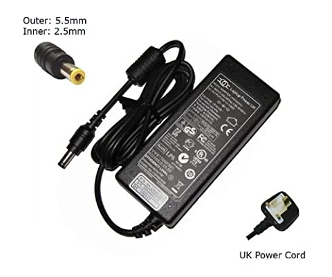 Laptop Charger forAsus G50Vt-2D K40AE K41VF K42DE K42DQCompatible Replacement Notebook Adapter Adaptor Power Supply - Laptop Power (TM) Branded (UK Powercord and 12 Month Warranty)