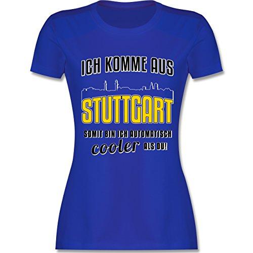 Städte - Ich komme aus Stuttgart - tailliertes Premium T-Shirt mit Rundhalsausschnitt für Damen Royalblau