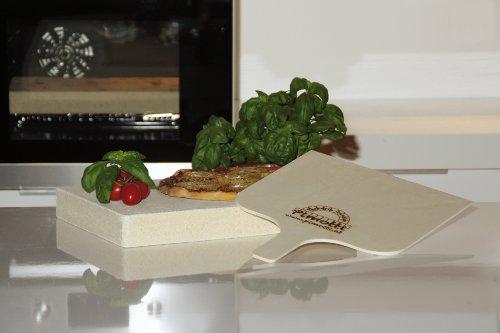 Pimotti Pizzastein – 5 cm Dicke mit Pizzaschaufel und Rezepten - 4