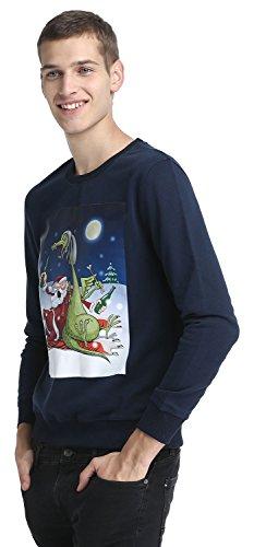 Damen Herren Warme Weihnachten Sweatshirt Hoodies Weihnachtspullover Pullis mit weihnachtlichen Motiven von YOU LOOK UGLY TODAY Dunkelblau