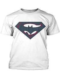 SuperBatman Round Neck T Shirt White.