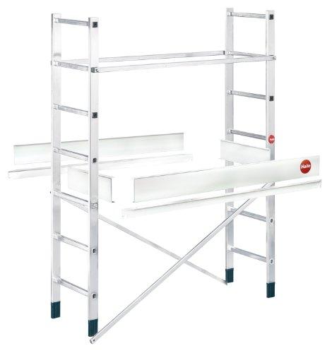 Hailo ProfiStep multi, Alu-Leitern-Gerüst Zusatzelement (nur mit Grundelement verwendbar), Arbeitshöhe: 500 cm, made in Germany, 9477-001
