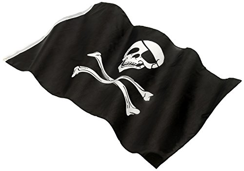 e, Totenkopf Aufdruck, 152 x 91cm, One Size, Schwarz, 22498 (Piraten Flagge)