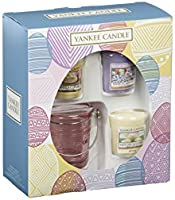 Yankee Candle 3 Votive and 1 Holder Giftset perfect for Easter