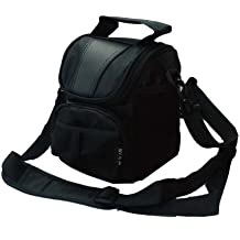 Impermeabile nero custodia per fotocamera Canon PowerShot SX420SX410SX540SX530, SX60, Sony H300H400HX400, Nikon B500L340L330, L840L830, FUJI FinePix S9200, S8650, S8600, Fujifilm INSTAX mini 8