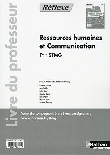 Ressources humaines et communication - Tle STMG par (Broché)