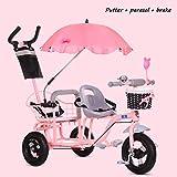 MRXUE Multi-Funktion für Kinder-Doppelzyklusfahrräder,Pink2