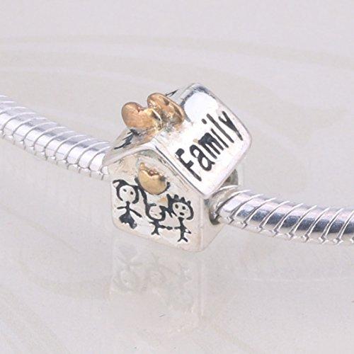 Dijes en forma de abalorios de Eshion Jewelry, bañados en oro, compatibles...