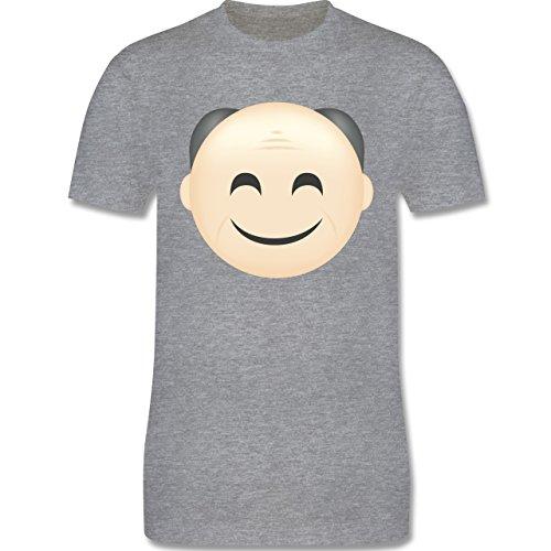 Opa - Opa Emoji - Herren Premium T-Shirt Grau Meliert