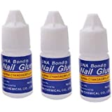 colour blast Nail Glue for Artificial Nail Glue Waterproof Nail Glue for Acrylic Professional Nail Art Glue Manicure Tool for False Nail (Package Contains Nail Glue of 3 g)