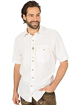 orbis Textil Trachtenkurzarmhemd Weiss