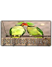 Xpression Décor Key Holder Rack with Photo of Parrot 19501