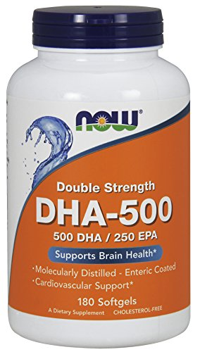 Now Foods, DHA-500, Doble Fuerza, x180 Softgels
