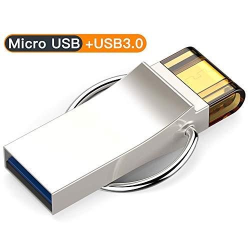 IhDFR Flash-Disk-Speicherplatte USB3.0 Dual-Interface-OTG-Hochgeschwindigkeits-All-Metal-Android-Handy-Computer-Mehrzweckauto 16G, 32G, 64G (Kapazität : 64G)