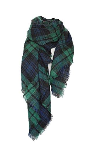 Uleade Damen Oversized Herbst Winter Schal klassische Kariert Schal lange weich Wraps grosse Schal