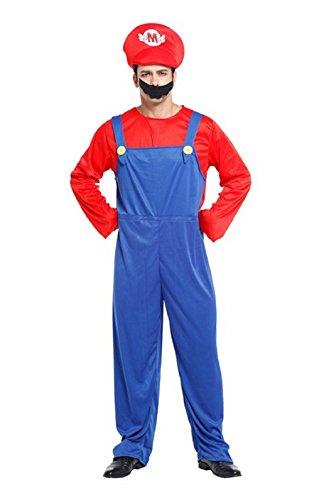 �nner Erwachsener Super Mario Bros (Super Mario Kostüm Für Männer)