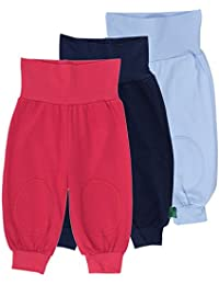 Fred's World by Green Cotton Alfa Pants Mix 3-Pack, Pantalones para Bebés