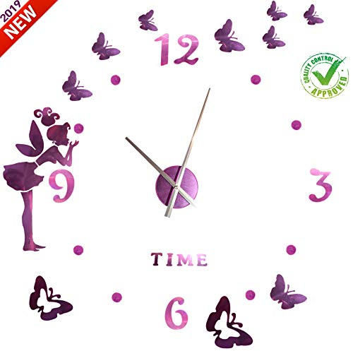 Jisan Arts Reloj De Pared 3D Sin Marco Grande Niños
