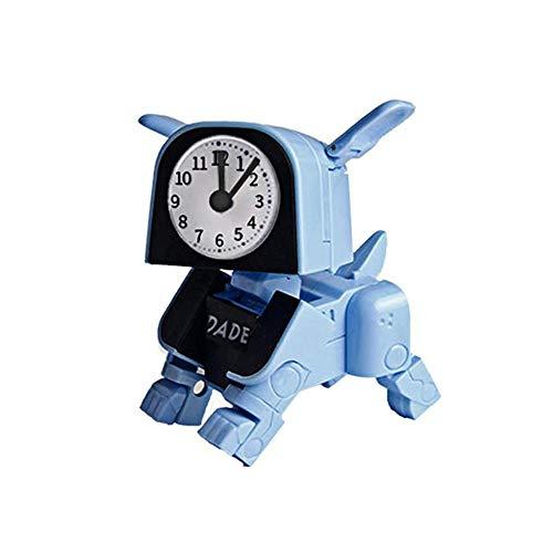 ZYJ Kinder wecker, kreative manuelle verformung Hund elektronische Cartoon Roboter aufwachen Timer Kid Spielzeug wecker für Kinder,A
