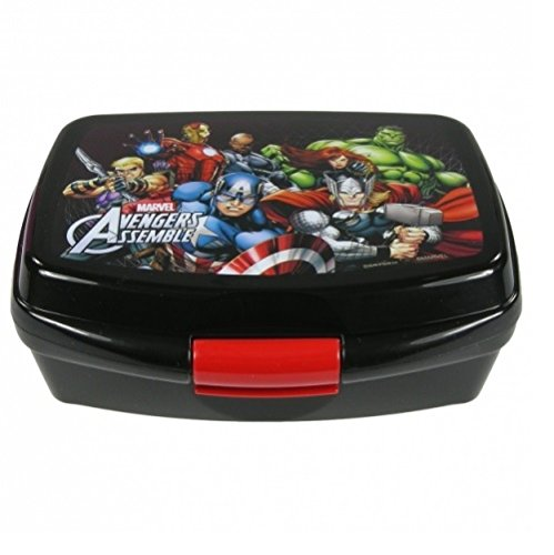 Maxi&Mini Behälter für Mahlzeiten, Lunchbox, Avengers, Hulk, Iron-Man, Captain America, Thor