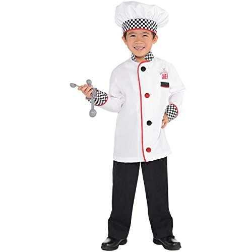 Preisvergleich Produktbild Master Chef Kit Kids Fancy Dress Roleplay Cook Uniform Boys Girls Childs Costume