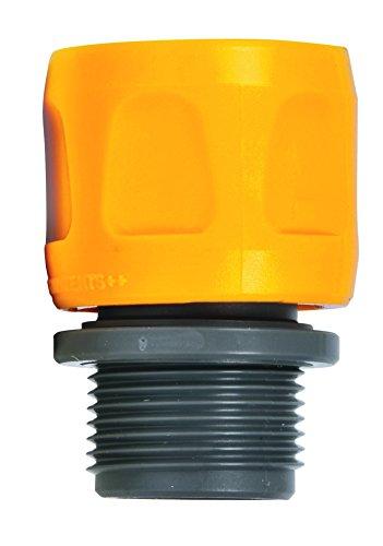 Hozelock 2170P9000 Adaptateur pour Tuyau Plat et Spiralé Jaune/Gris 16 x 10 x 20 cm