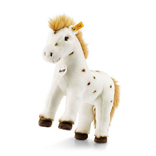 Steiff, 071287, Pferd, Spotty, 30 cm, stehend, weiß/braun, Plüschpferd