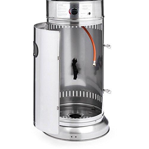 Blumfeldt Goldflamme V2A • Terrassenheizer • Heizstrahler • Gas-Heizer • 12 kW Heizleistung • Butan-/Propan • Brennröhre aus Quarz-Glas • Piezozündung • Edelstahlgehäuse • Transportrollen • silber; - 5