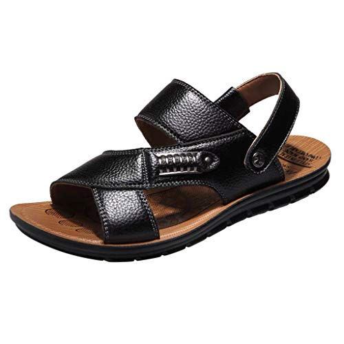 Oliviavane Sandali Sportivi da Uomo, Scarpa da Uomo Casual Estive Shoes da Traspiranti Cavo Spiaggia Sandali Vintage da Uomo in Pelle