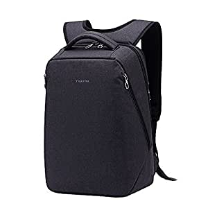 Kopack Laptop Rucksack Slim Backpack for 14.1 Most 15 in Chromebook Ultrabook Macbook Travel bag black Water Resistant Back Pack