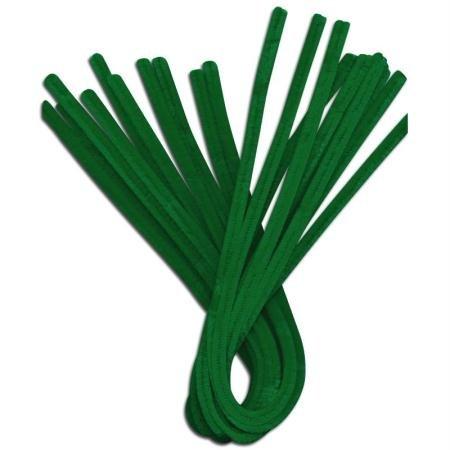 GLOREX chenilles cure-pipes, vert, 31 x 8,5 x 1,5 cm