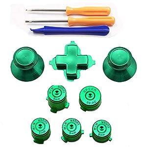 Thumbstick Cap Joystick Analog Cap + Bullet ABXY + Dpad Dpad Tasten mit Schraubendreher Set für Xbox One Controller