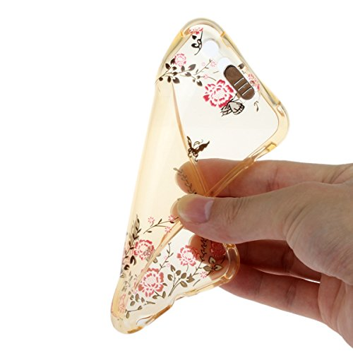 iPhone 6 Plus Hülle,iPhone 6S Plus Schutz Case,iPhone 6 Plus Cover - Felfy Utral Dünn Soft Überzug Bling Stern Glitzer Shiny Überzug Gel TPU Silikon & Plastic Rahmen & Blu-ray-Spiegel Hybrid Handy Hül Gelb Garten