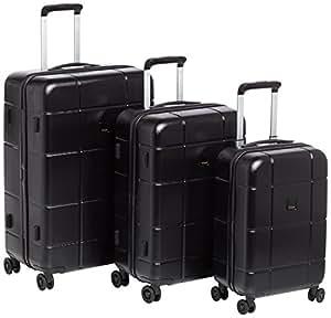 TITAN Luggage Set Backstage 4 Wheel Large/ Medium/ Small Black 82490