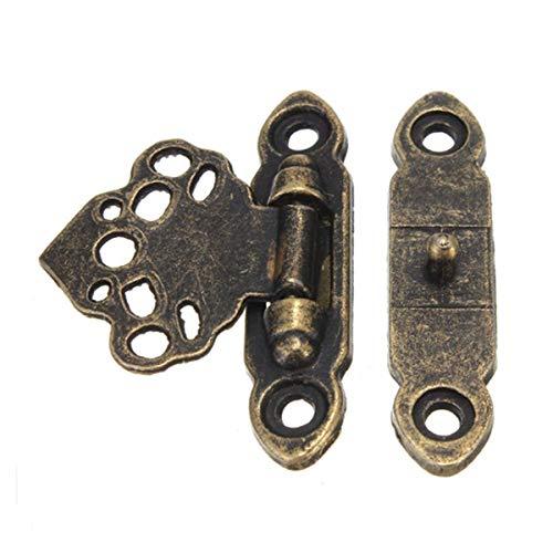 Carry stone Box Hasp - 12x Antique Brass Decor Schmuck Schmuckstück Holzkiste Hasp Verschlüsse Haken + Schrauben Box Closer