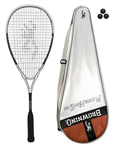 Browning PLATINO Nano 140 Raqueta de squash + Paquete de pelotas de squash