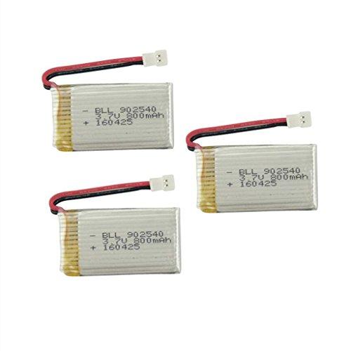 Fytoo 3pcs 3.7V 800mah Litio Batería SYMA X5 X5C