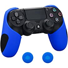 Pandaren® silicona grueso medio Fundas Protectores el mando PS4 (camuflaje rojo verde azul) x 3 + thumb grip x 6