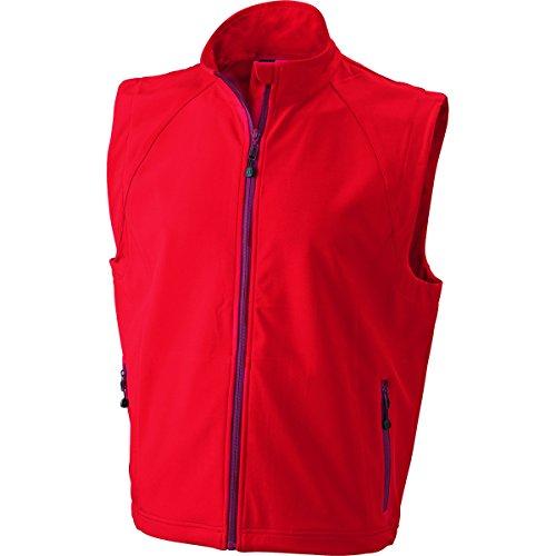 JAMES & NICHOLSON - Gilet sans manches softshell - respirant - coupe-vent - imperméable - JN1022 - Homme Rouge
