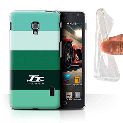 Isle of Man TT Offiziell Hülle/Gel TPU Case für LG Optimus F6 / Aqua Muster/Eleganz Kollektion (Case Lg Handy F6)