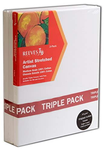 REEVES RCS2020 Keilrahmen, 3-er Pack, 20 x 20 cm