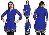 Unifiedclothes Women Fashion Party Indian Kurti Tunic Kurta Top Shirt Dress SC1030