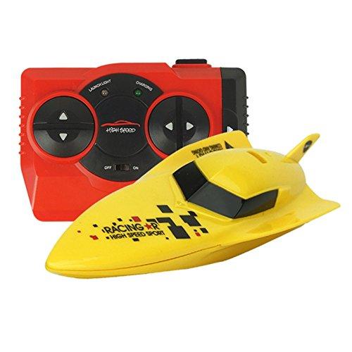 eMart Hochgeschwindigkeits -RC Boat Racing Yacht Modell Funkfernsteuerung Spielzeug Schiff Elektro Kinder Geschenk - Gelb