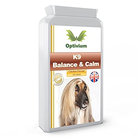 Best K9 BALANCE & CALM x 120 Chicken Flavour Tablets. Pet Supplement for Dogs Who Suffer from Anxiety & Hyper Activity - NATURAL INGREDIENTS - Help Support a Balanced Mind and Mood - Canine Health. MANUFACTURED IN