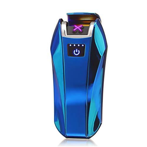 Mechero Eléctrico,Encendedor electrónico Green Grass Encendedor de cigarrillos recargable encendedor USB Interruptor Táctil de Inducción a Prueba de Viento Sin Gas Mejor Regalo