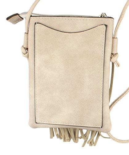 Kleine Damen Umhängetasche Ausgehtasche Schultertasche Handtasche in schwarz uvm Beige