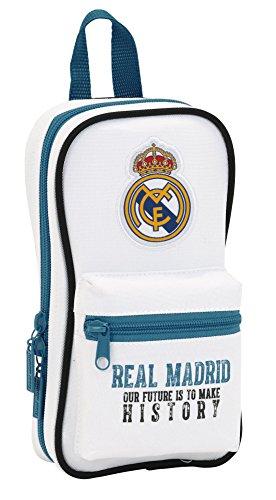 Real Madrid – Plumier Forma de Mochila con 4 portatodos llenos (SAFTA 411754747)