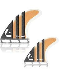 Dorsal Bamboo (Hexcore) Quad Surfboard Fins Set (4) Honeycomb FUT Base