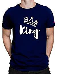 Graphic Printed T-Shirt For Men | King T-Shirt | Half Sleeve T-Shirt | Round Neck T Shirt | 100% Cotton T-Shirt